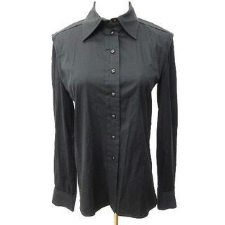 ルイヴィトン(LOUIS VUITTON)のルイヴィトン ドレス シャツ ストレッチ スナップボタンM  黒 ECR5(シャツ/ブラウス(長袖/七分))