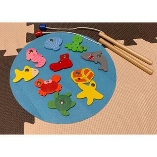 明日(4日)まで値下げ フライングタイガー 魚釣り遊び 磁石 おもちゃ サメ (知育玩具)