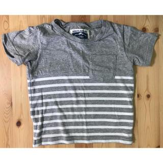 エニィファム(anyFAM)のanyFAM  Tシャツ 半袖 100サイズ  グレーボーダー 男の子 キッズ(Tシャツ/カットソー)