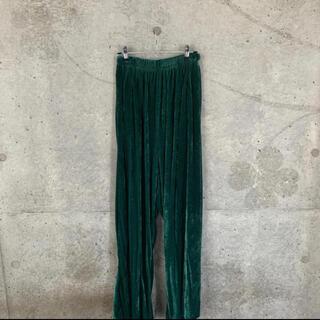 バレンシアガ(Balenciaga)のBALENCIAGA 18aw ワイドベロアパンツ(その他)