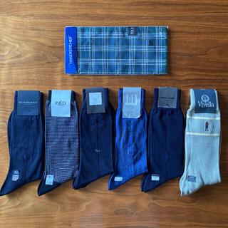 バーバリー(BURBERRY)の新品未使用 ブランド ソックス 靴下 6足 セット&ポロ ハンカチ プレゼント(ソックス)