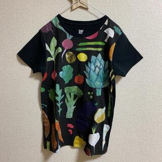 グラニフ(Design Tshirts Store graniph)のグラニフ 野菜柄 Tシャツ 黒(Tシャツ(半袖/袖なし))