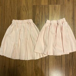 プティマイン(petit main)の姉妹お揃い♡プティマイン プリーツスカート90.100セット(スカート)