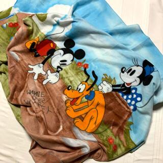 ディズニー(Disney)のDisney ミッキーマウス・ミニーマウス大判フリースブランケット(毛布)