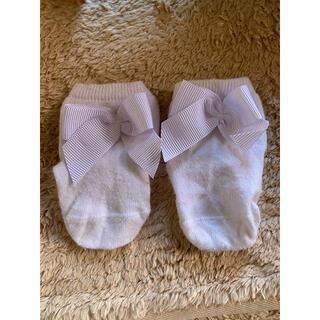 ラルフローレン(Ralph Lauren)のjacadi リボン靴下 ラルフローレン 薄ピンク靴下 2点セット(靴下/タイツ)