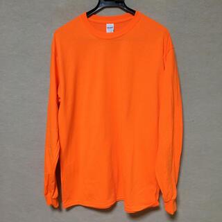 ギルタン(GILDAN)の新品 GILDAN ギルダン 長袖ロンT セーフティオレンジ L(Tシャツ/カットソー(七分/長袖))