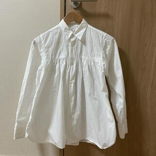 コムデギャルソン(COMME des GARCONS)のCOMME des GARCONS SHIRT ギャザーフレアシャツ(シャツ/ブラウス(長袖/七分))