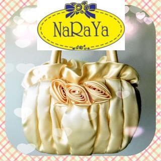 ナラヤ(NaRaYa)のNaRaYa トートバッグ バラモチーフ ベージュ 新品未使用品(ハンドバッグ)