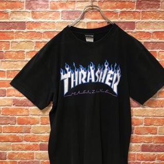 THRASHER - 【古着】スラッシャー thrasher 半袖tシャツ Tシャツ ゆるダボ 黒 L