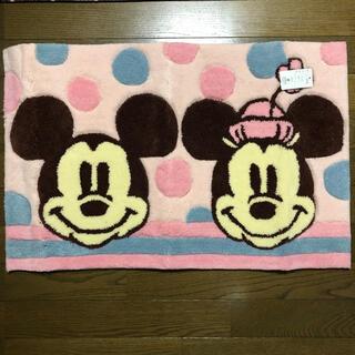 ディズニー(Disney)の「新品未使用」玄関マット ミッキー&ミニー(玄関マット)