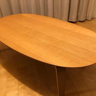 ムジルシリョウヒン(MUJI (無印良品))の無印良品 楕円こたつ  大 リビングテーブル センターテーブル ローテーブル(こたつ)