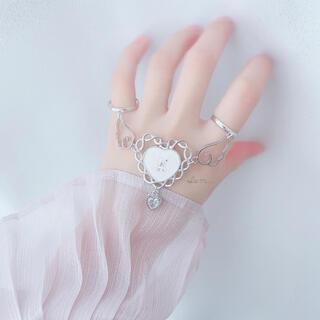 5/29新作* Angel bear double ring ▷White(リング)