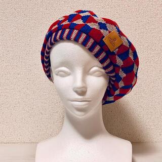 ヴィヴィアンウエストウッド(Vivienne Westwood)のヴィヴィアン ウエストウッドベレー帽 夏用 美品 帽子 vivienne(ハンチング/ベレー帽)