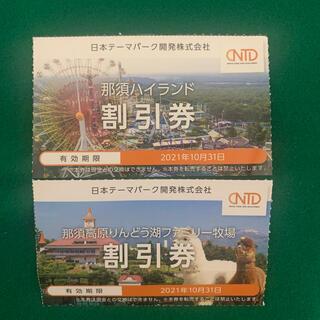 日本駐車場開発 那須ハイランド 那須りんどう湖 割引券 2枚セット(その他)