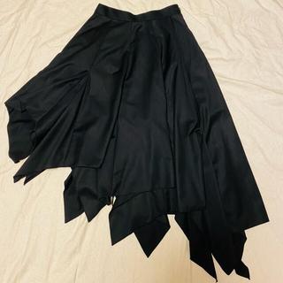 アトリエボズ(ATELIER BOZ)のBLACK PEACE  NOW コウモリアシンメトリースカート(ひざ丈スカート)