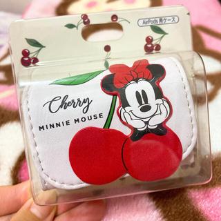 ディズニー(Disney)のディズニー AirPods Proケース ミニー さくらんぼチェリー(ヘッドフォン/イヤフォン)