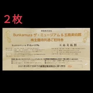 Bunkamura  ザ・ミュージアム &五島美術館 株主優待共通ご招待券 (美術館/博物館)
