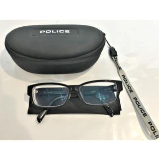 ポリス(POLICE)の【現状品】I5-75 POLICE 眼鏡 度入り ケース付き(サングラス/メガネ)