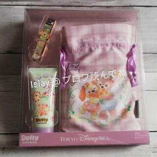 ダッフィー(ダッフィー)の新品 スプリングインブルーム 爪切り ハンドクリーム きんちゃく 3点セット(ハンドクリーム)
