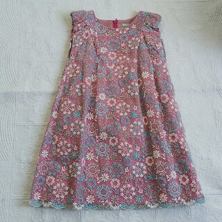 トッカ(TOCCA)のTOCCA BAMBINI 130 キッズ ピンク 刺繍 ワンピース(ワンピース)