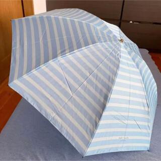 ケイトスペードニューヨーク(kate spade new york)の未使用品 ケイトスペード折りたたみ雨傘 ブルー(傘)