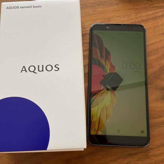 SHARP(シャープ)のもとふる様専用AQUOS sense3 basic SHV48 SIMフリー 黒 スマホ/家電/カメラのスマートフォン/携帯電話(スマートフォン本体)の商品写真