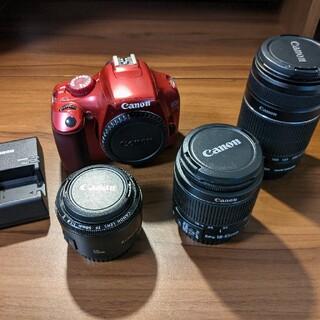 キヤノン(Canon)の【限定】キャノン EOS Kiss X50 一眼レフカメラレンズ×3のお得セット(デジタル一眼)