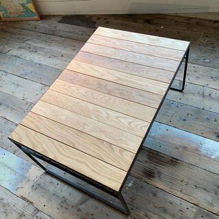 アイアン×オーク カフェテーブル(ローテーブル)