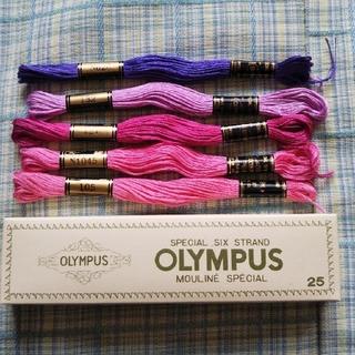 オリンパス(OLYMPUS)の刺繍糸 5本 オリムパス ①(生地/糸)