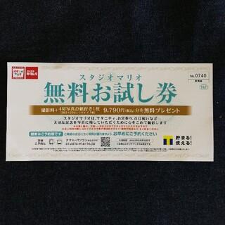キタムラ(Kitamura)のスタジオマリオ カメラのキタムラ 無料お試し券 9790円分(その他)
