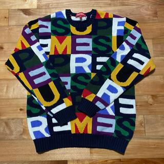 シュプリーム(Supreme)のSUPREME 18AW Big Letters Sweater Sサイズ(ニット/セーター)