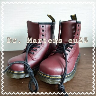 ドクターマーチン(Dr.Martens)の新品】 Dr.Martens 8ホール レッドチェリー  EU25(ブーツ)