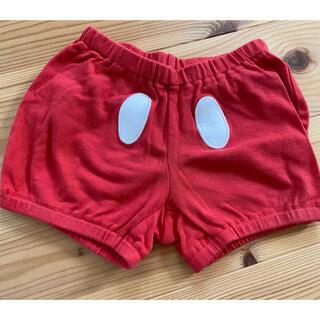 ユニクロ(UNIQLO)のミッキー パンツ 半ズボン ディズニー 60〜80(パンツ)