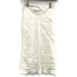 フェンディ(FENDI)のフェンディ FENDI タイトスカート ミモレ ロング リネン 40 L 白(ロングスカート)
