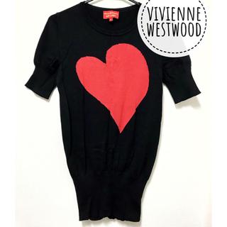 ヴィヴィアンウエストウッド(Vivienne Westwood)のvivienne westwood【美品】《レア》big ハート 半袖 ニット(ニット/セーター)