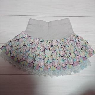ANNA SUI mini - アナスイミニ    スカート  100    ピーコック刺繍