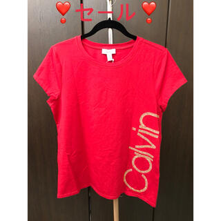 カルバンクライン(Calvin Klein)のカルバンクライン カットソー レディース 大きいサイズ 新品タグ付き(Tシャツ(半袖/袖なし))
