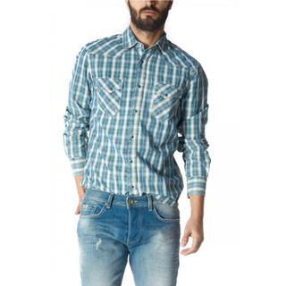 ロンハーマン(Ron Herman)のGAS チェックシャツ インディゴ ブルー(シャツ)
