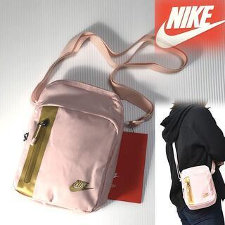 ナイキ(NIKE)のNIKE ナイキ テック ショルダー タテ ピンク×ゴールド(ショルダーバッグ)