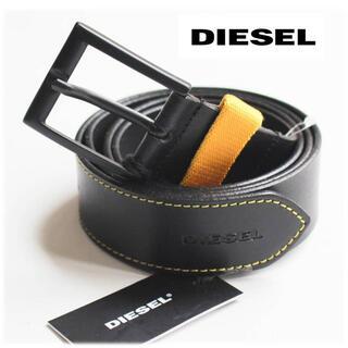 ディーゼル(DIESEL)の《ディーゼル》新品 イタリア製 牛革 レザーベルト 黒 40インチ 100cm (ベルト)
