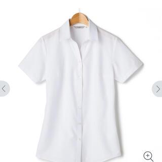 アオキ(AOKI)のAOKI メイク汚れ対応 白織柄 ノンアイロンスキッパー 半袖シャツ 7号(シャツ/ブラウス(半袖/袖なし))
