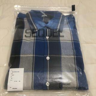 フラグメント(FRAGMENT)の新品 SEQUEL NEL CHECK SHIRT BLUE M(シャツ)