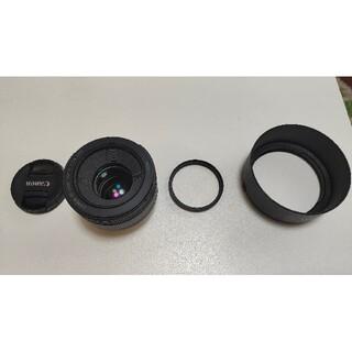 キヤノン(Canon)のcanon 単焦点レンズ 50mm f1.8 stm レンズプロテクター付き(レンズ(単焦点))