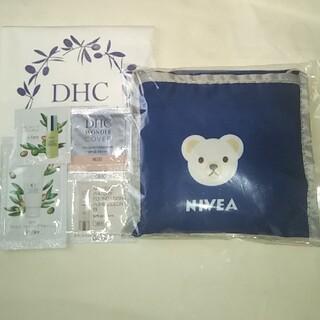 ディーエイチシー(DHC)のニベア エコバッグ + DHC サンプル(フェイスオイル/バーム)