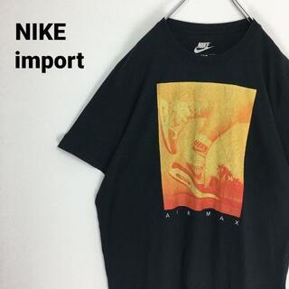 ナイキ(NIKE)の希少サイズ 輸入 NIKE ナイキ Tシャツ エアーマックス ブラック 半袖(Tシャツ/カットソー(半袖/袖なし))