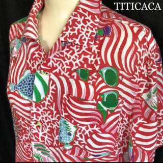 チチカカ(titicaca)のTITICACA チチカカ アロハシャツ レーヨン 総柄 珊瑚 熱帯魚(シャツ)