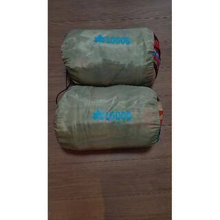 ロゴス(LOGOS)のLOGOS 丸洗い寝袋2個 ナバホ柄 抗菌防臭 (寝袋/寝具)