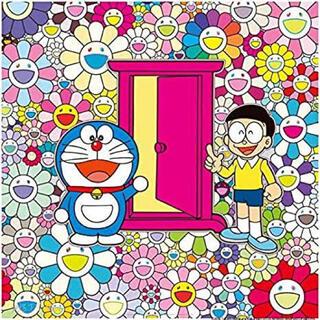 村上隆 お花畑の中の「どこでもドア」ポスター(ポスター)