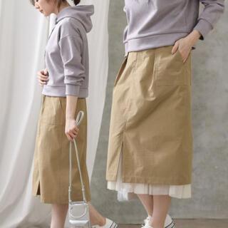 AuieF - ベイカーチュールタイトスカート