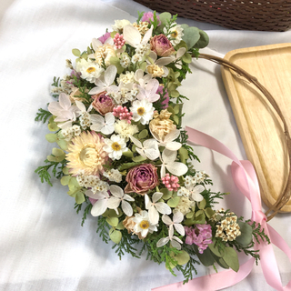 バラと紫陽花のリース♡ドライフラワーリース(ドライフラワー)